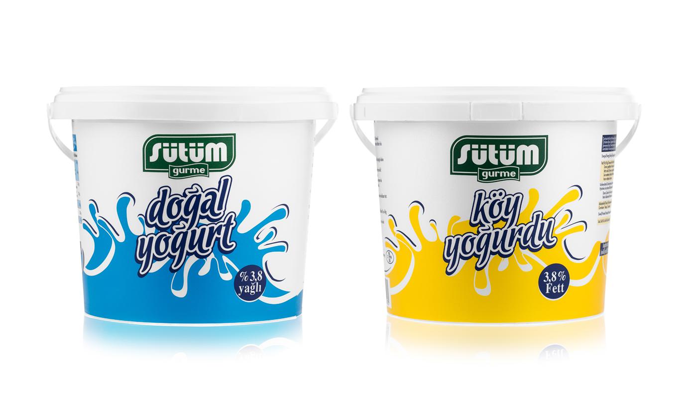 Jogurty fotografia do użytku w reklamie