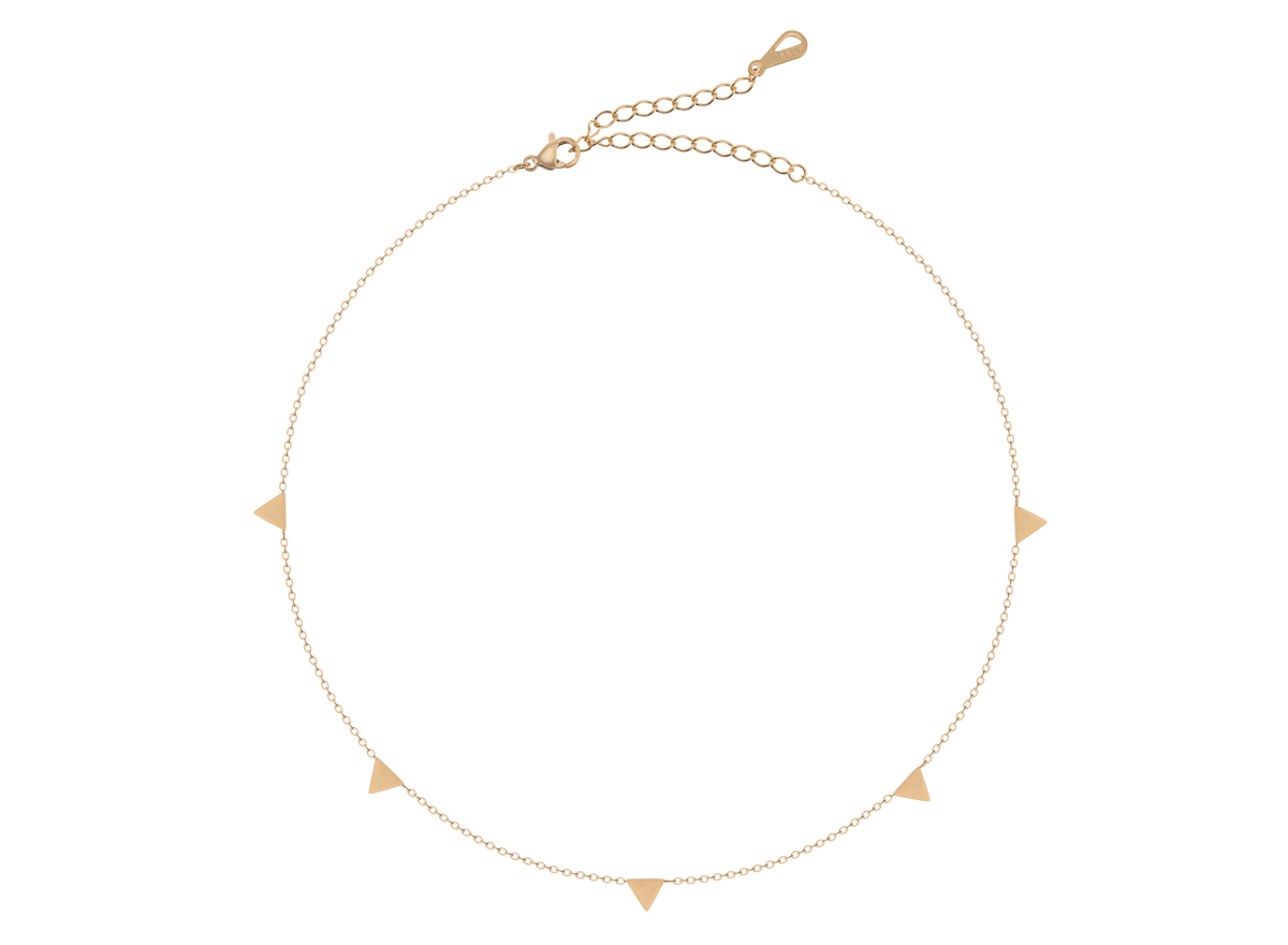 Packshot trójkątów wkomponowanych w bransoletkę